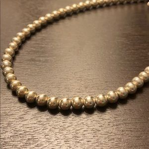 925 Sterling Silver Circle/Pearl Necklace